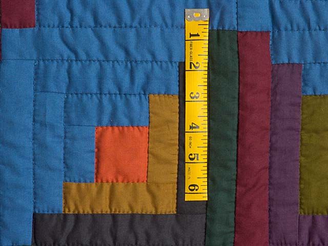 Amish Log Cabin Crib Quilt Photo 4