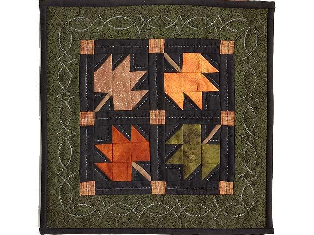 Autumn Leaves Miniature Quilt Photo 1