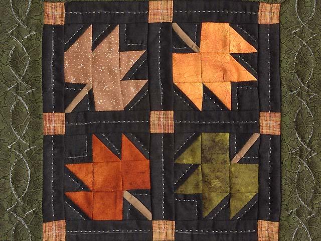 Autumn Leaves Miniature Quilt Photo 2