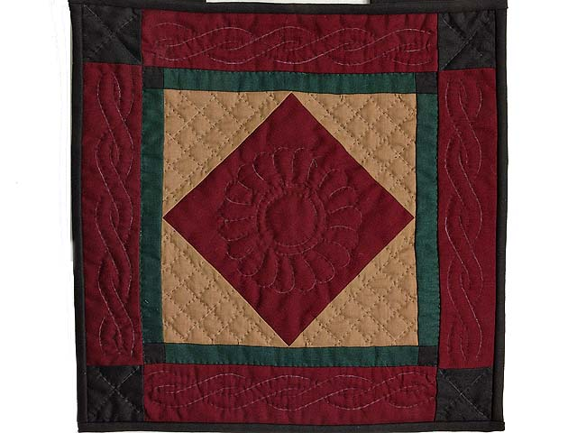 Amish Center Diamond Miniature Quilt Photo 1