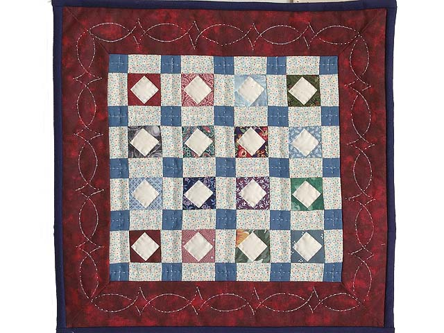 Diamond Checkerboard Miniature Quilt Photo 1