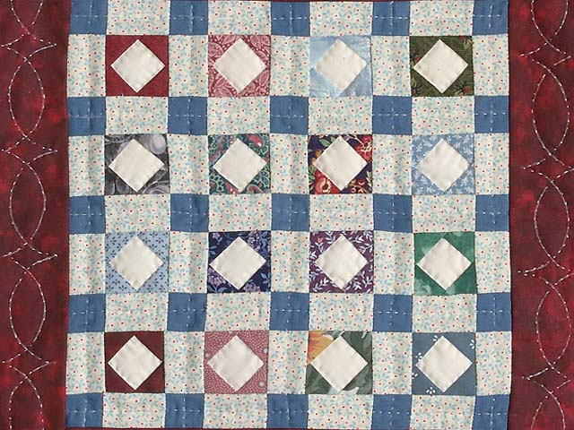 Diamond Checkerboard Miniature Quilt Photo 2