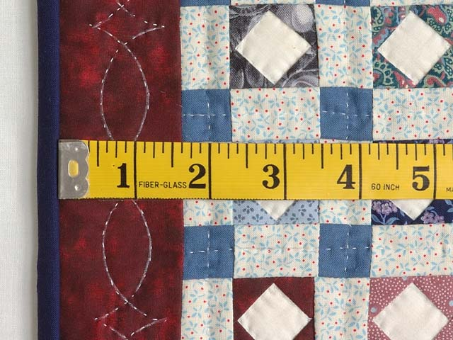 Diamond Checkerboard Miniature Quilt Photo 3
