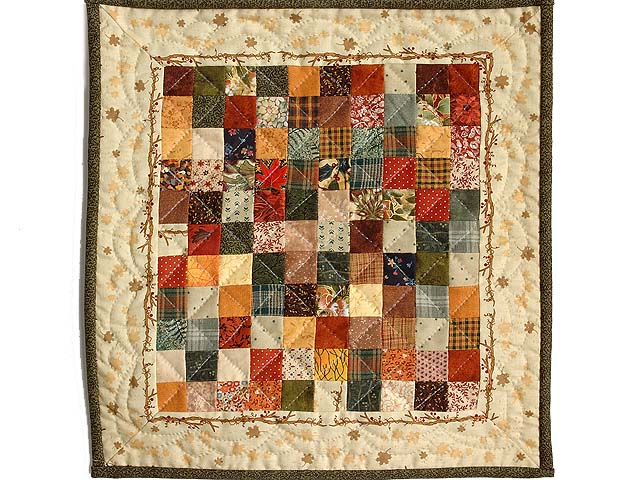 Harvest Postage Stamp Miniature Quilt Photo 1