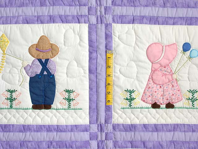 Lavender Sunbonnet Sue & Bill Crib Quilt Photo 4
