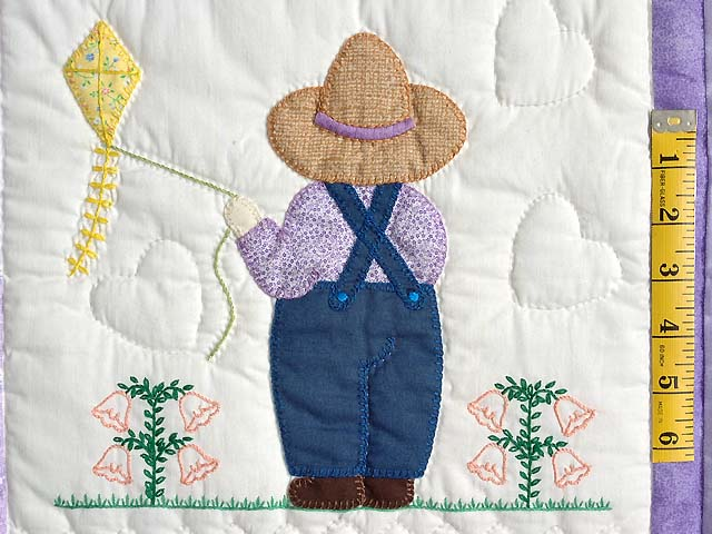 Lavender Sunbonnet Sue & Bill Crib Quilt Photo 6