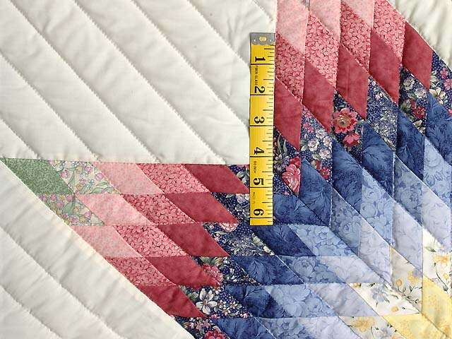 Rose and Multicolor Lone Star Crib Quilt Photo 3