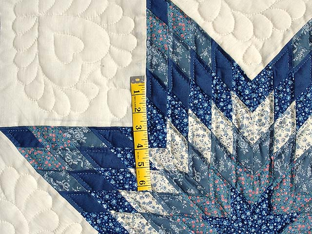 Blue and Cream Lone Star Crib Quilt Photo 3