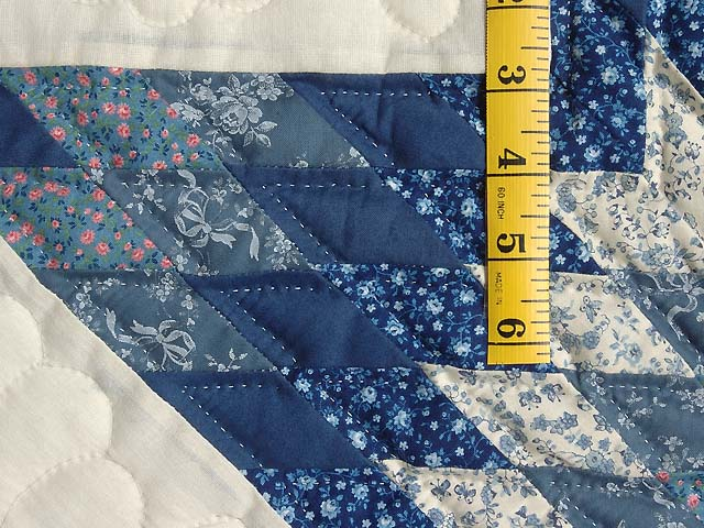 Blue and Cream Lone Star Crib Quilt Photo 4