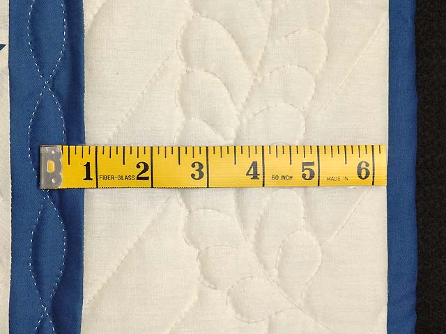 Blue and Cream Lone Star Crib Quilt Photo 5