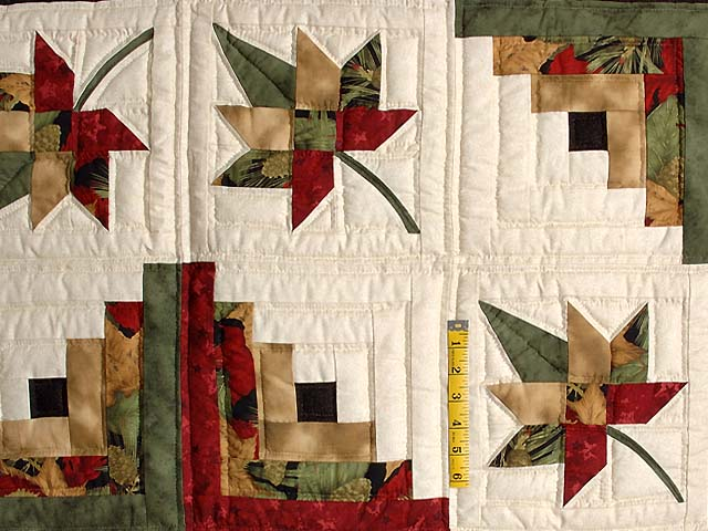 Autumn Splendor Log Cabin Quilt Superb Made With Care