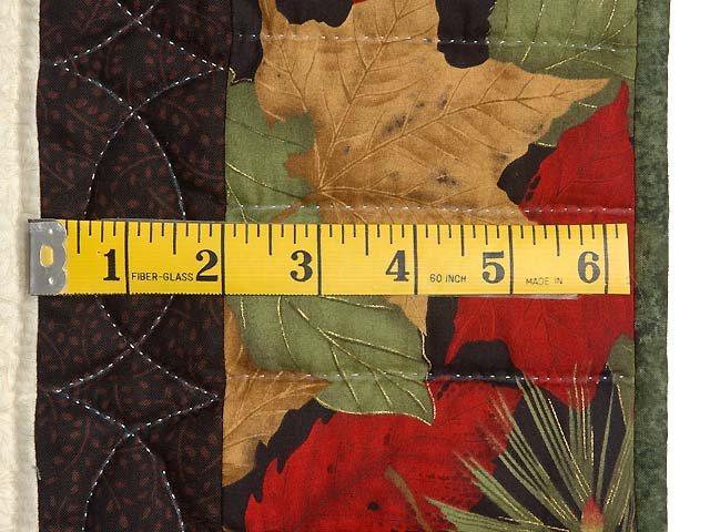 Gold Red and Sage Autumn Splendor Log Cabin Throw / Wall Hanging Photo 6