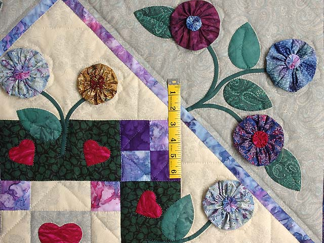 Green and Brick Patchwork Garden Wall Hanging Photo 3