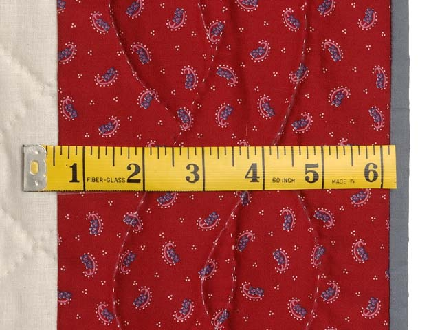 Red and Gray Fisher Boy Applique Crib Quilt Photo 5