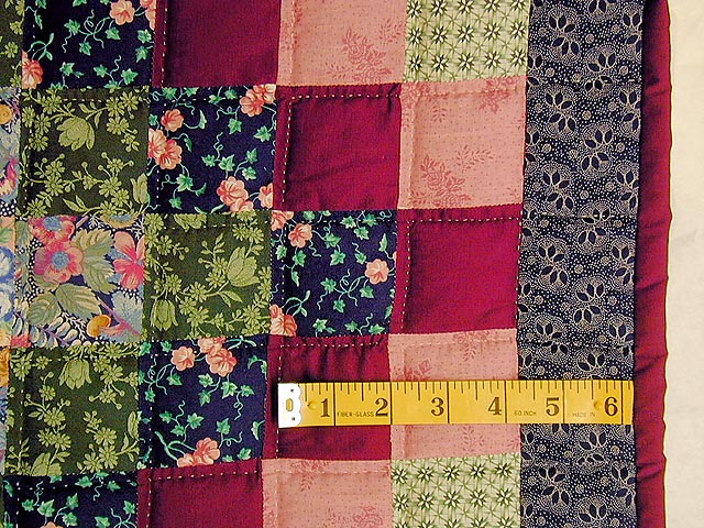 Green and Multi Hit or Miss Crib Quilt Photo 5