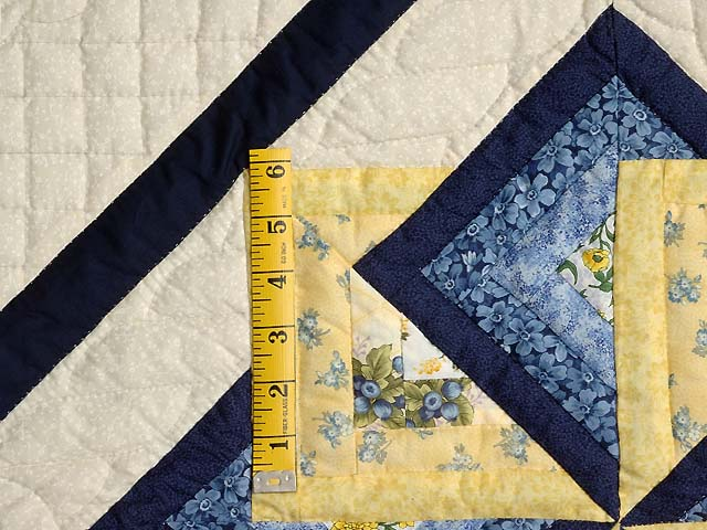 Navy Blue and Yellow Star Spin Wall Hanging Photo 3