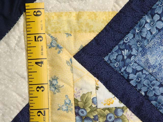 Navy Blue and Yellow Star Spin Wall Hanging Photo 4