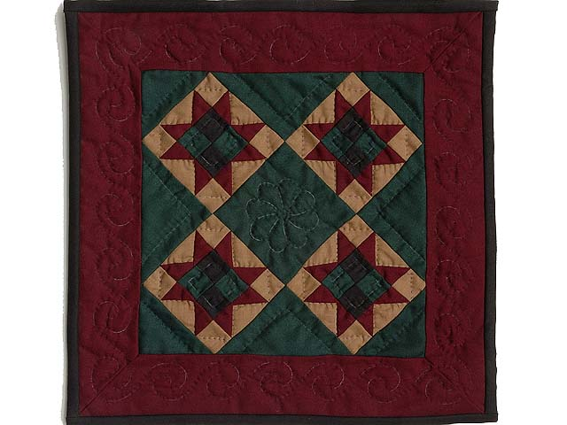 Amish Ohio Stars Miniature Quilt Photo 1