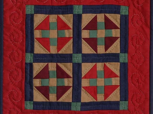 Miniature Amish Monkey Wrench Quilt Photo 2