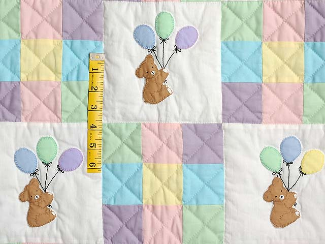 Teddy and Nine Patch Crib Quilt Photo 3
