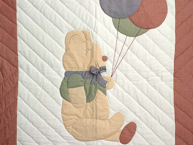 Plaid Party Bear Crib Quilt Photo 2