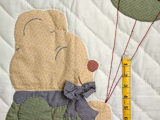Plaid Party Bear Crib Quilt Photo 3
