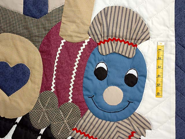 Blue and Plum Thomas Train Crib Quilt Photo 3