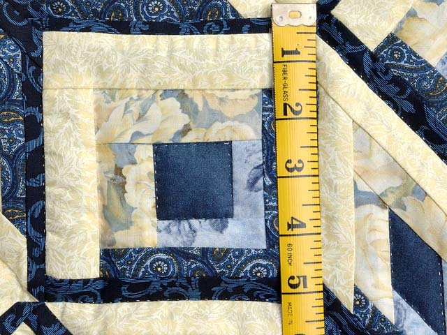 Blue and Yellow Diamond Log Cabin Throw Photo 4