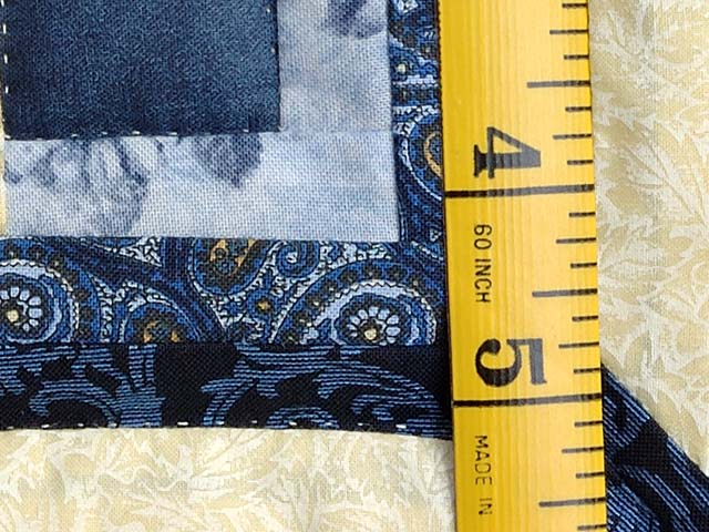 Blue and Yellow Diamond Log Cabin Throw Photo 5