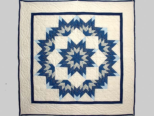 Blue and Cream Broken Star Wall Hanging Photo 1