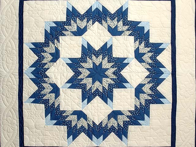 Blue and Cream Broken Star Wall Hanging Photo 2