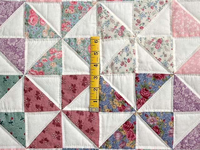 Pastel Blue and Pink Pinwheels Crib Quilt Photo 3