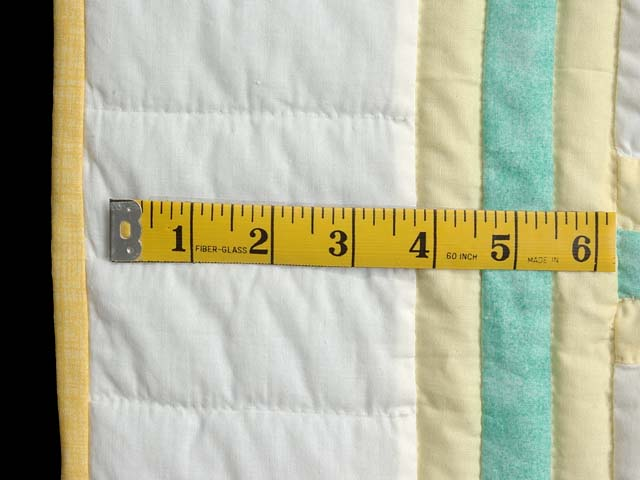 Green and Yellow Teddy Bear Crib Quilt Photo 6