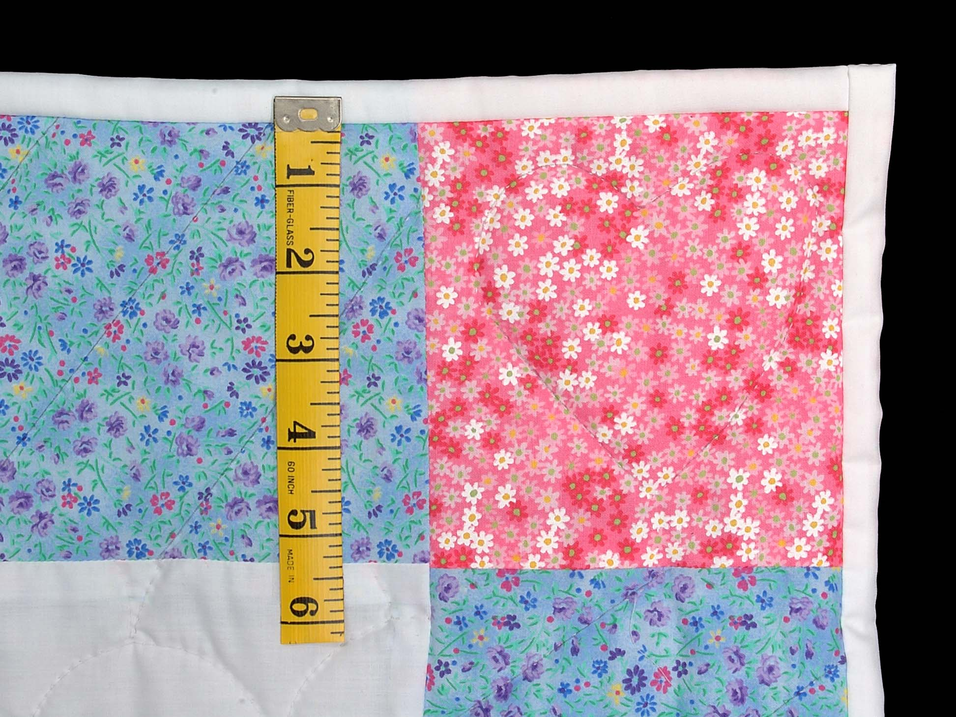 Aqua Blue and Hot Pink Noahs Ark Crib Quilt Photo 5