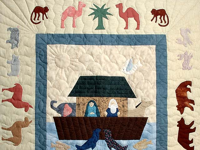 Noahs Ark Applique Crib Quilt Photo 2