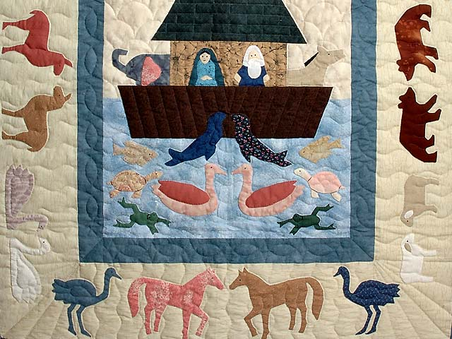 Noahs Ark Applique Crib Quilt Photo 3