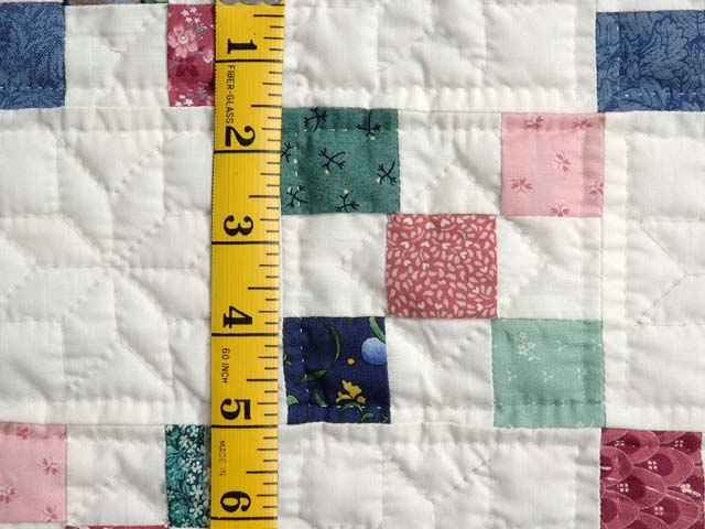 Green and Multicolor Nine Patch Crib Quilt Photo 4