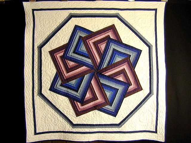 Purple and Blue Star Spin Throw Photo 1