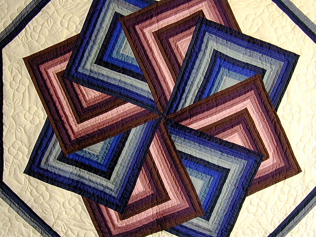 Purple and Blue Star Spin Throw Photo 2
