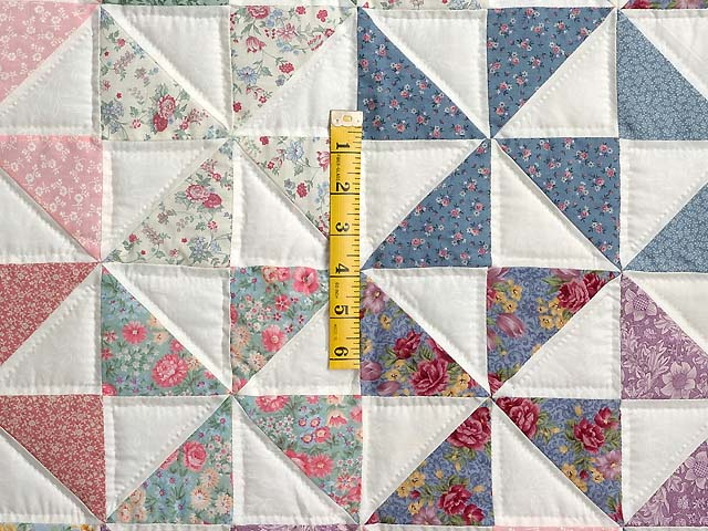 Pastel Pink and Multicolor Pinwheel Crib Quilt Photo 3