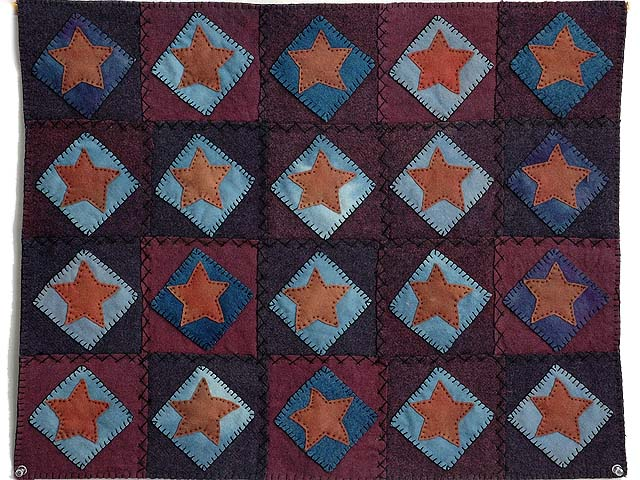 All Wool Little Stars Wall Hanging Photo 1