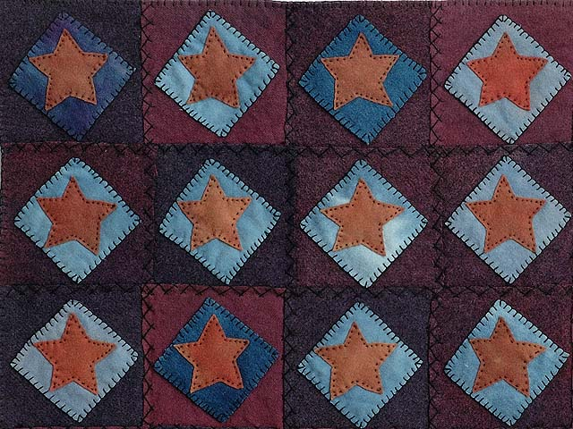All Wool Little Stars Wall Hanging Photo 2