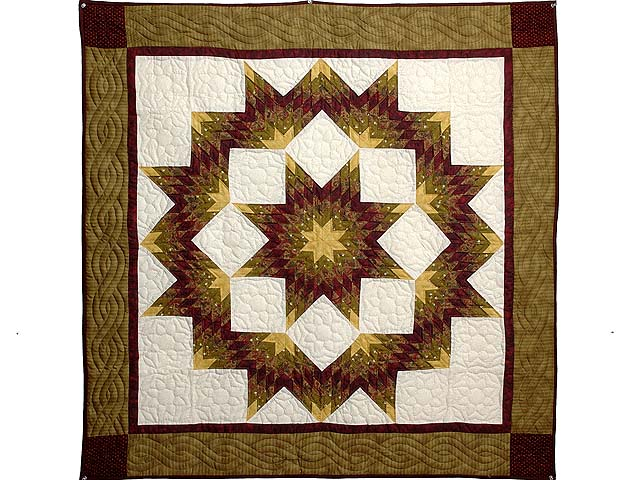 Gold and Burgundy Broken Star Wall Hanging Photo 1