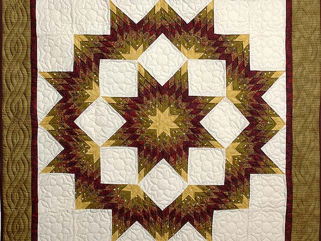 Gold and Burgundy Broken Star Wall Hanging Photo 2