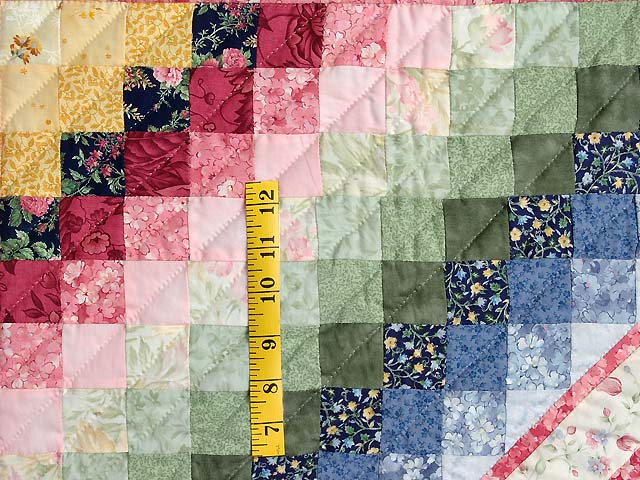Rose and Pink ABC Crib Quilt Photo 5
