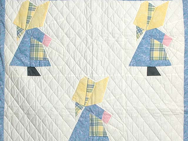 Pastel  Blue and Yellow Holly Hobby Crib Quilt Photo 2