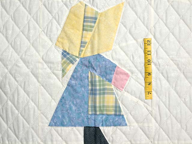 Pastel  Blue and Yellow Holly Hobby Crib Quilt Photo 3
