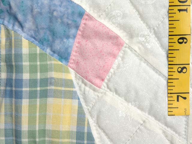 Pastel  Blue and Yellow Holly Hobby Crib Quilt Photo 4