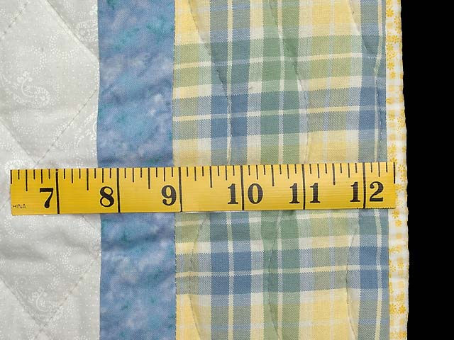 Pastel  Blue and Yellow Holly Hobby Crib Quilt Photo 5