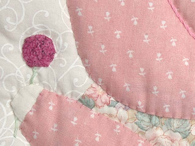 Pink Sunbonnet Sue Crib Quilt Photo 5